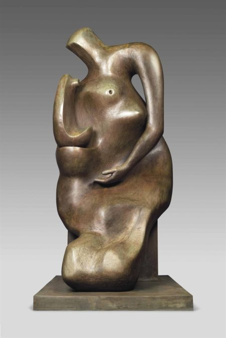 Henry Moore-Mother and Child: Block Seat-1984