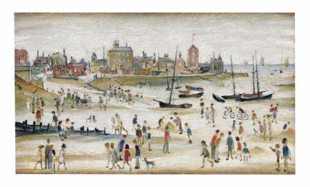Laurence Stephen Lowry-Beach Scene-1946