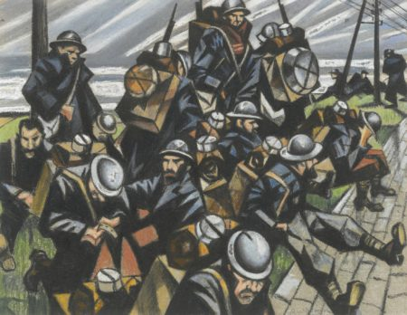 Christopher R. W. Nevinson-Troops Resting-1916
