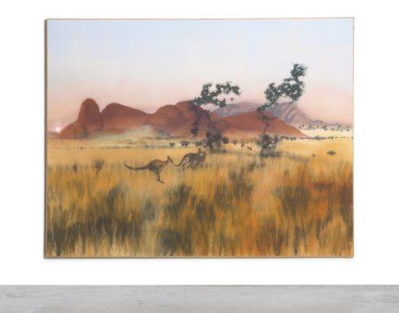 Michael Andrews-Near Malu Kata Evening, Katatjuta (The Olgas)-1986