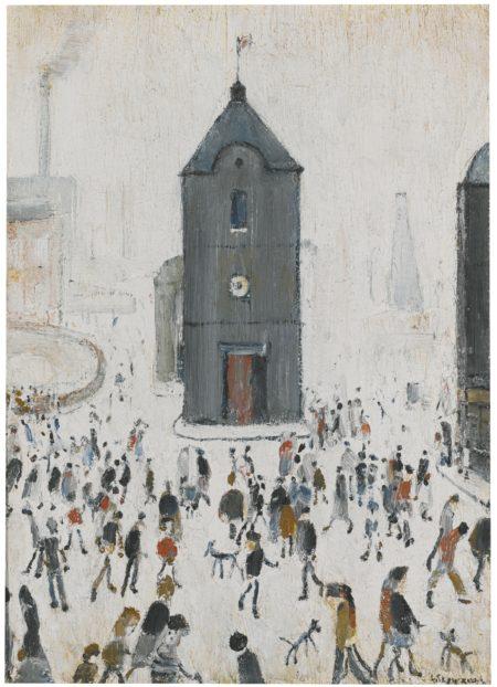 Laurence Stephen Lowry-The Black Church-
