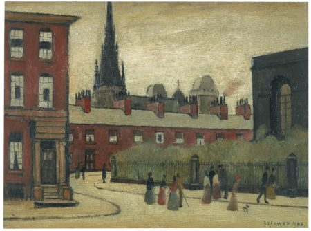 Laurence Stephen Lowry-The Spire-1949