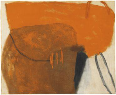 Roger Hilton-Simple Figure In Orange-1959