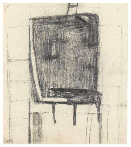 William Scott-Seated Figure With Cat II-1954
