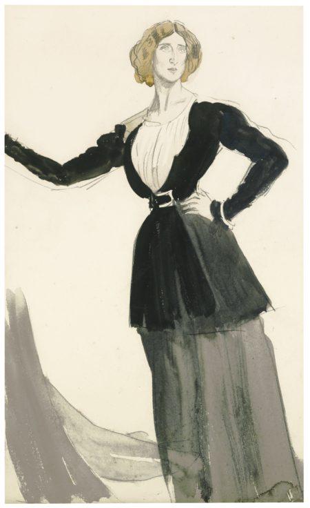 Augustus Edwin John-Lady Ottoline Morrell-1909