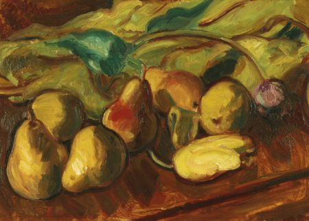 Matthew Smith-Still Life: Pears And Tulips-1936