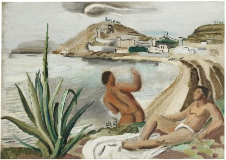 Christopher Wood-Boys And Coastal Scene-1925