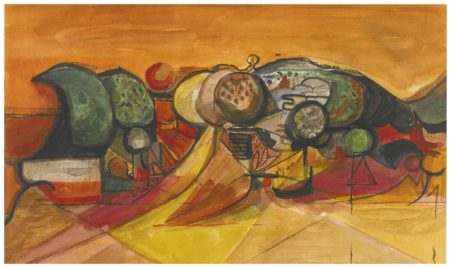 Graham Sutherland-Landscape WithPointed Rocks-1945
