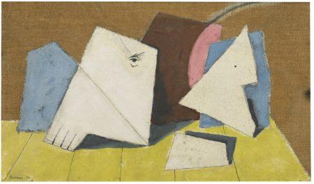 Julian Trevelyan-Untitled (Abstract Figure With Eye)-1935