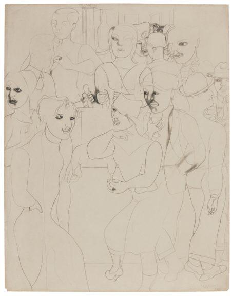 Edward Burra-Saloon-1928