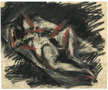 Frank Auerbach-Reclining Nude-1955