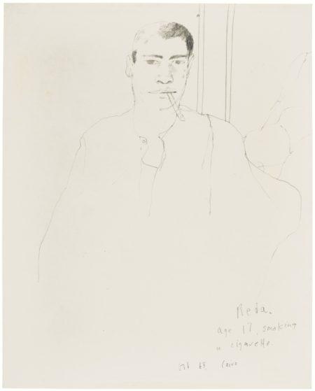 David Hockney-Reda, Age 17, Smoking A Cigarette, Cairo-1963