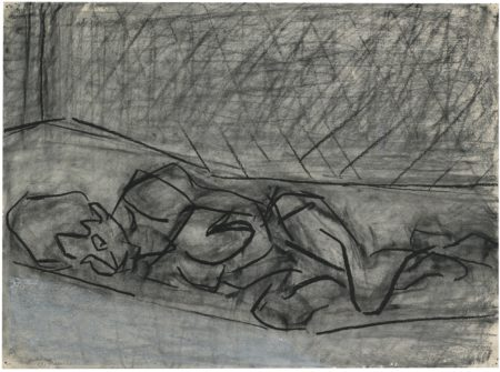 Frank Auerbach-Reclining Nude II-1977