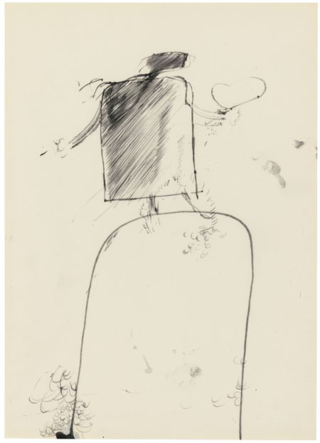 David Hockney-Figure With A Heart-