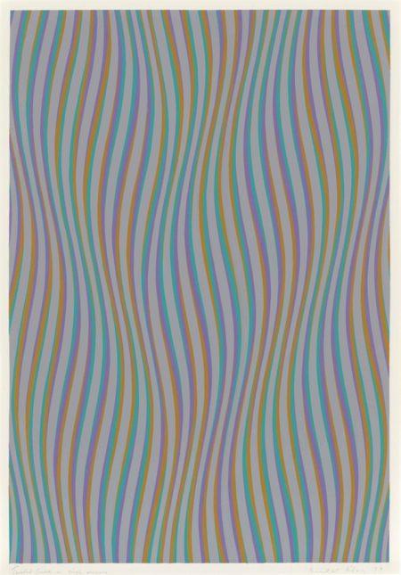 Bridget Riley-Twisted Curve in Single Reverse-1979