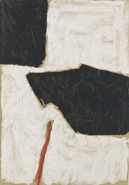 Roger Hilton-Untitled (Black, White and Red)-1954