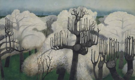 Edward Burra-Cherry Trees, Winter-1963