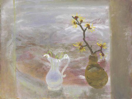 Winifred Nicholson-Snowdrops and Witch Hazel-1970
