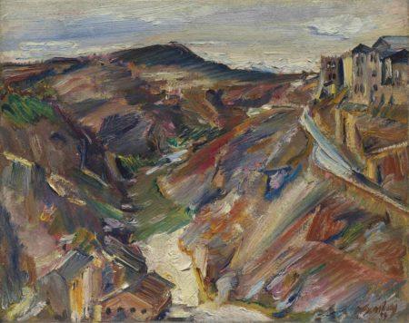 David Bomberg-The River Tajo and the Road up to the City, Toledo-1929