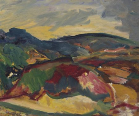 David Bomberg-Ronda Valley, looking towards El Castillo and El Barrio, San Francisco-1954
