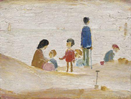 Laurence Stephen Lowry-Beach Scene-1948