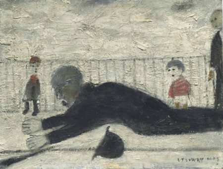 Laurence Stephen Lowry-Man Falling Over-1968