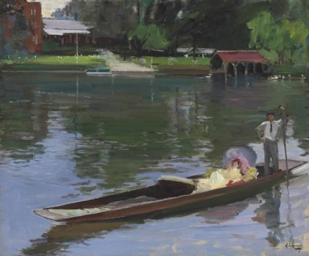 John Lavery-A Summer Evening - The Thames-1913