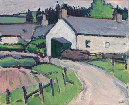 Samuel John Peploe-The White Cottage-1918