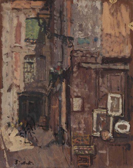Walter Richard Sickert-The Print Shop, Dieppe-1906
