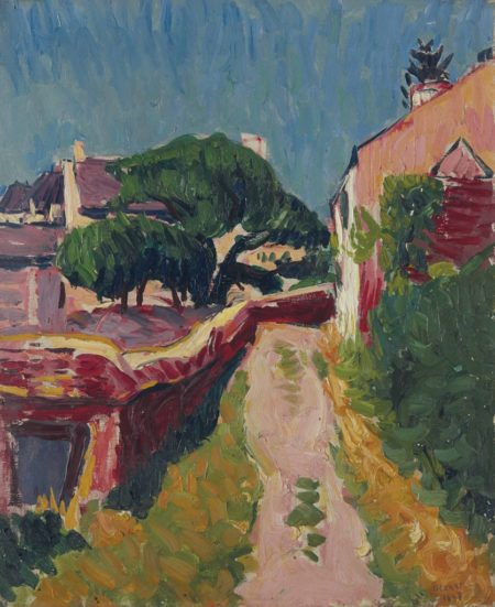 Roderic O'Conor-Country lane, Brittany-1897