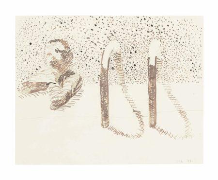 David Hockney-Bedford Studio Sketch No. 10-1978
