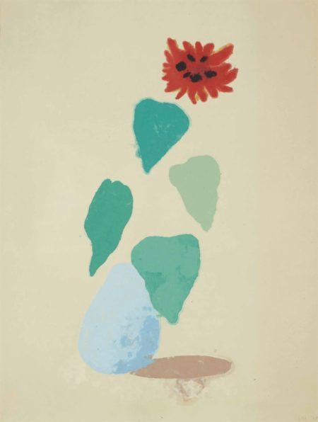 David Hockney-Sunflower (Paper Pool I)-1978