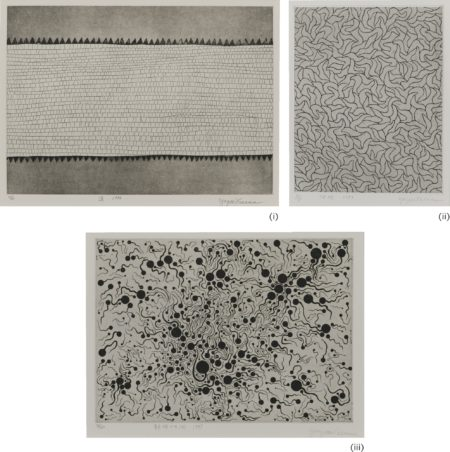 Yayoi Kusama-I. Road; II. Waves; III. River At Sunrise (Three Works)-1995