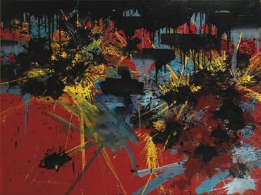 Georges Mathieu-L'Obscurite Ardente-1990