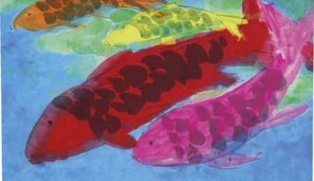Walasse Ting-Four Fish With Scales-1999