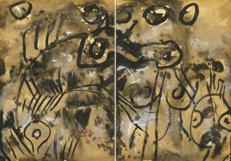 T'ang Haywen-Untitled (Diptych)-1977