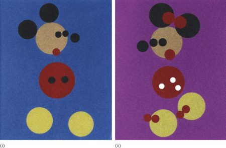 Damien Hirst-I. Mickey (Blue Glitter); II. Minnie (Pink Glitter) (Two Works)-2015