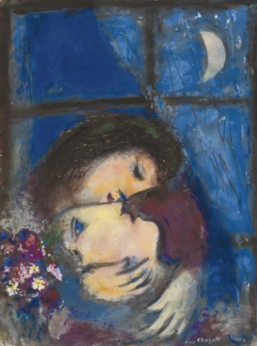 Marc Chagall-Deux Tetes A La Fenetre-1956