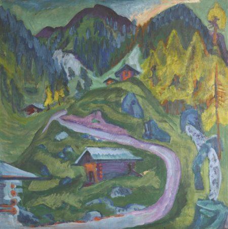 Ernst Ludwig Kirchner-Alpweg (Bergweg) (Alp Path; Mountain Path)-1921