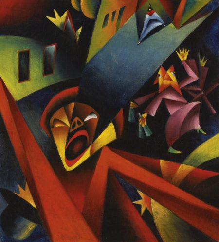 Georg Scholz-Nachtlicher Larm (Nightly Noise)-1919