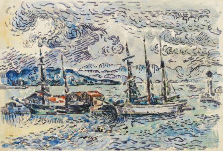 Paul Signac-Saint-Tropez, Le Chantier Naval-1895