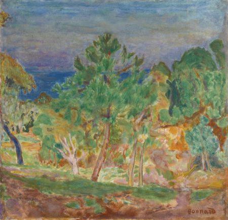 Pierre Bonnard-Bords De Seine Or Paysage Ensoleille-1921