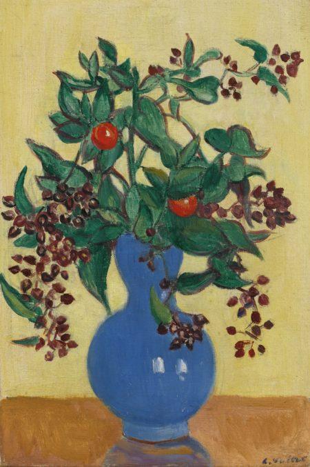 Louis Valtat-Bouquet De Fleurs Au Vase Bleu-