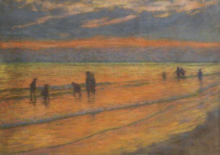 Emile Schuffenecker-Coucher De Soleil Sur La Plage-1887