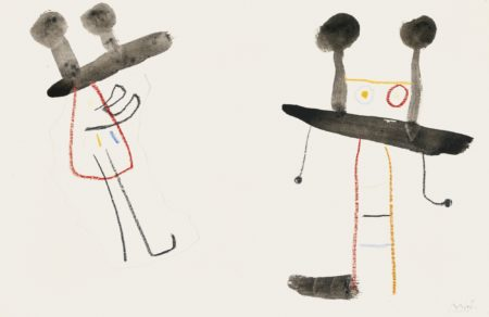 Joan Miro-Etude Pour'Ubu Roi'-1953