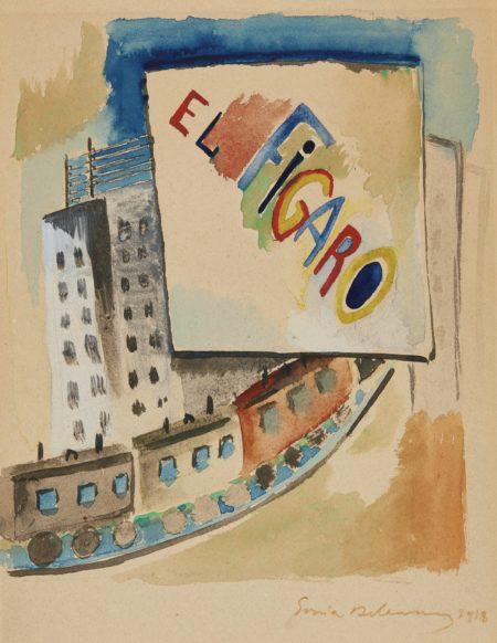 Sonia Delaunay-Projet Pour La Revue El Figaro-1918