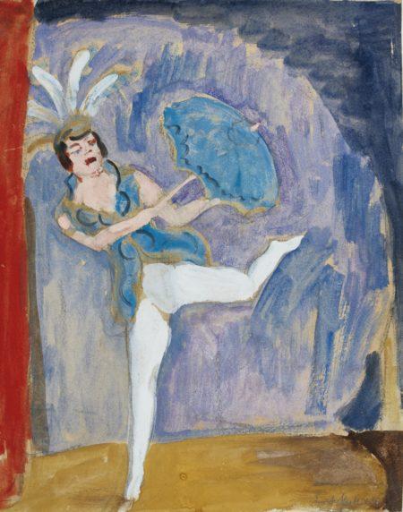 Erich Heckel-Variete-Tanzerin (Vaudeville Dancer)-1921