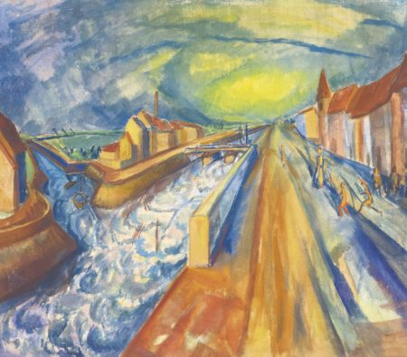 Erich Heckel-Kanale (Bei Ostende) (Canals (Near Ostende))-1916