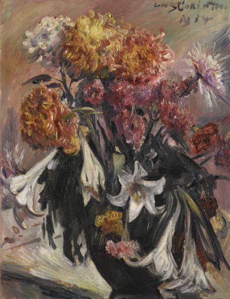 Lovis Corinth-Chrysanthemen Und Lilien (Chrysanthemums And Lilies)-1914