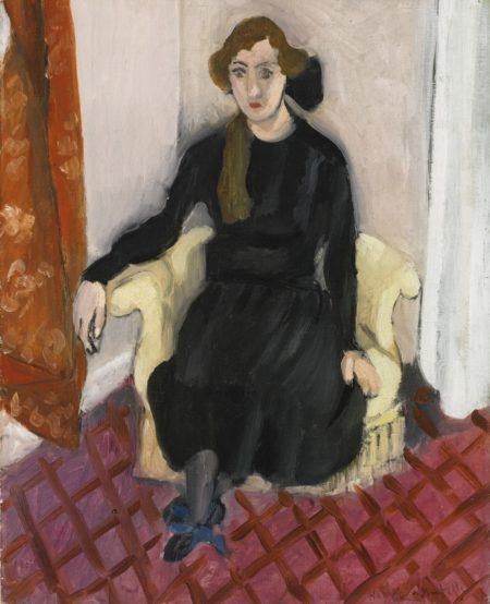 Henri Matisse-Jeune Fille En Noir-1919